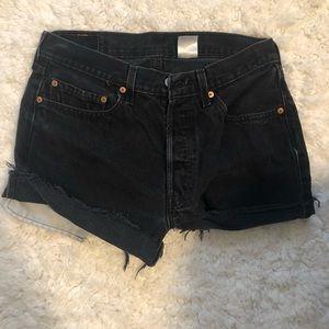 LEVI Black Denim Shorts